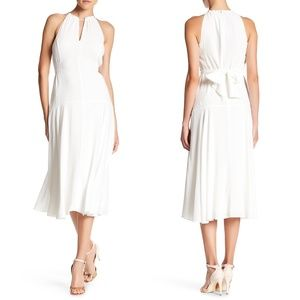 NWT Rachel Roy White Halter Midi Dress